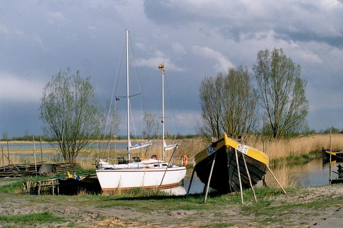 Stara przystań rybacka w Kątach Rybackich