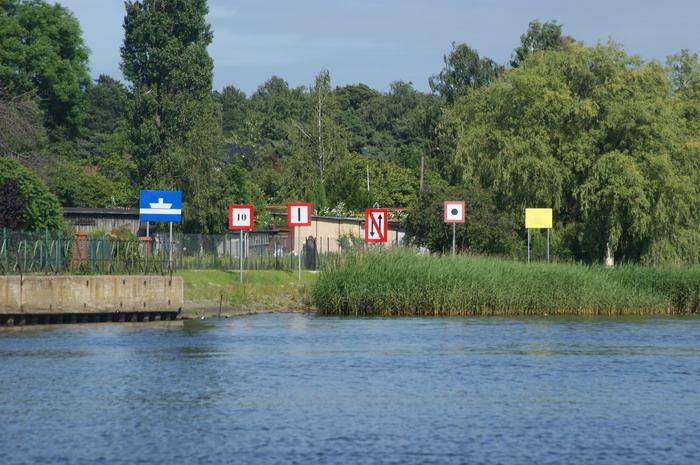 Znaki nawigacyjne w Sobieszewie