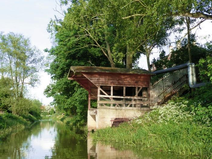 Stanowisko załadunku cukru na barki - rzeka Święta w Nowym Stawie