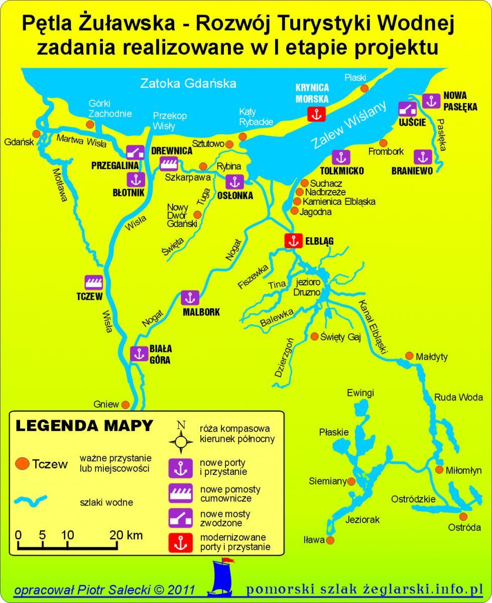 Mapa realizacji I etapu projektu